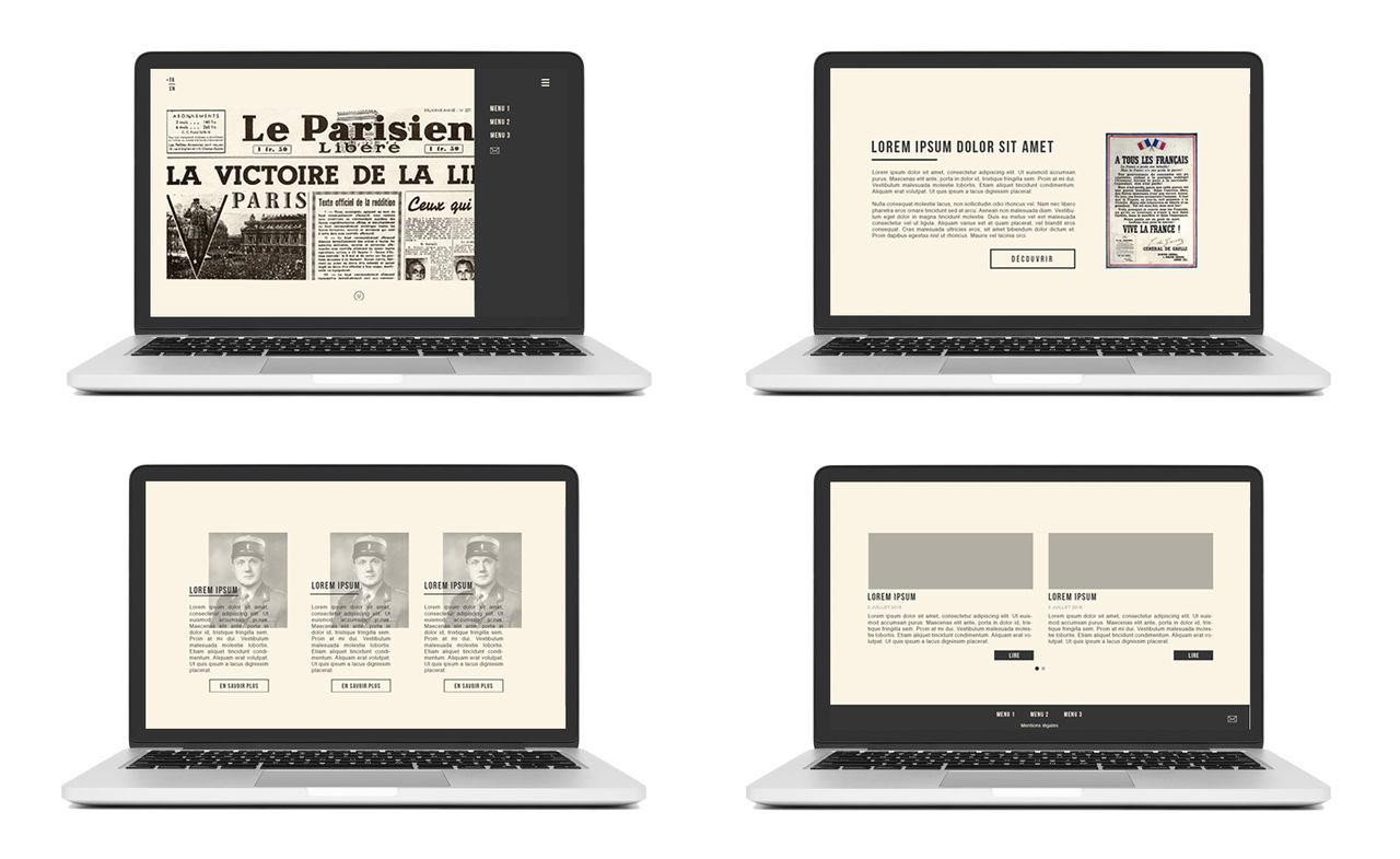 Site web - Devoir de mémoire