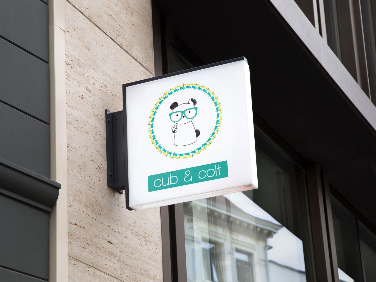 Logo cub&colt, baby brand