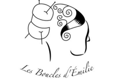 """Logo """"les boucles d'émilie"""""""
