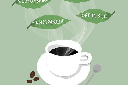 Illustration instagram pour marque de café