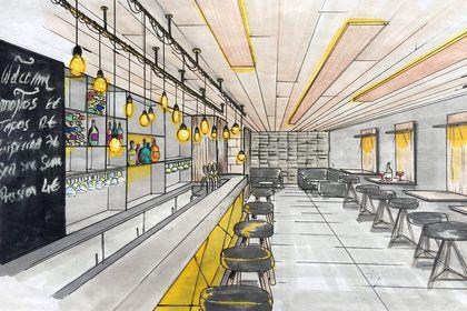 Projet d'aménagement d'un bar