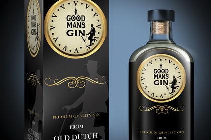 Good Mans Gin Packaging