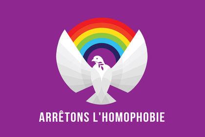 Logo Arretons l'homophobie.