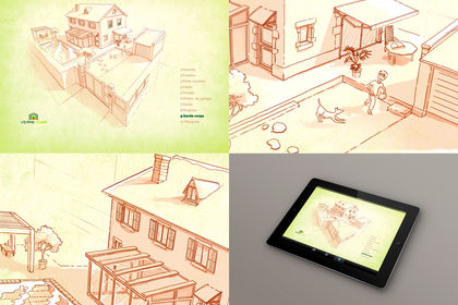 Illustration application tablette