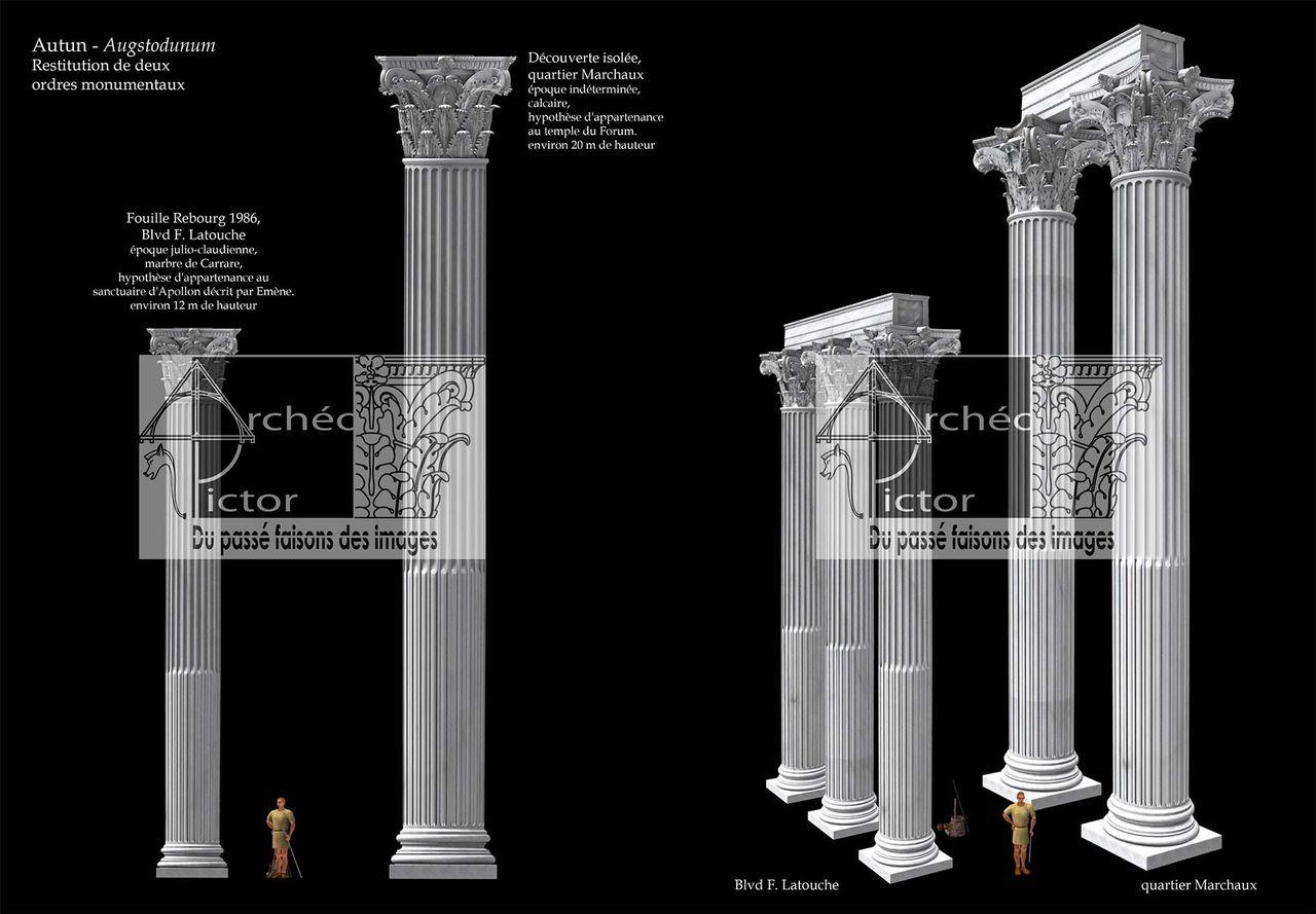 Ordres corinthiens marmoréens d'Augustodunum
