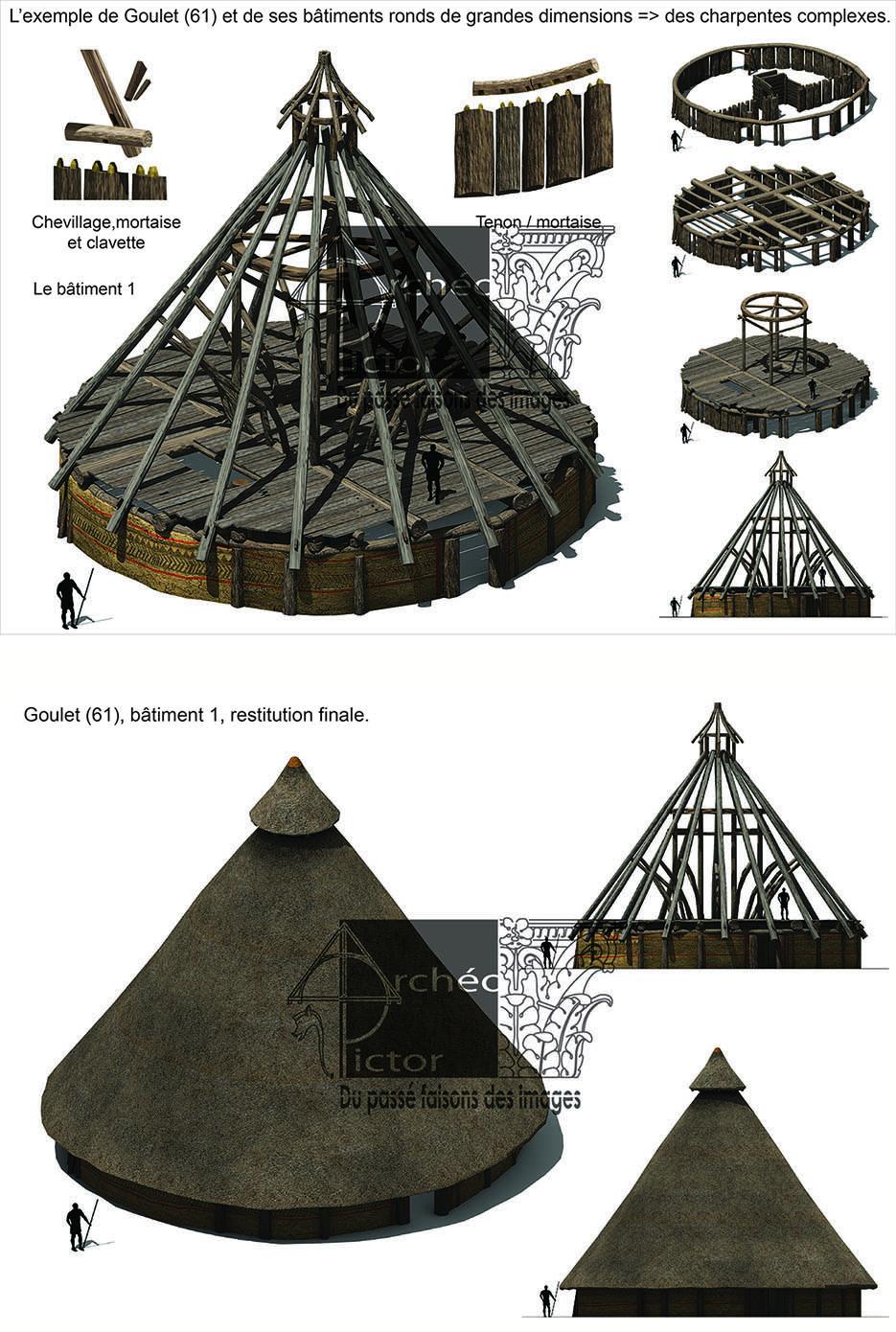 Le grand bâtiment circulaire de Goulet