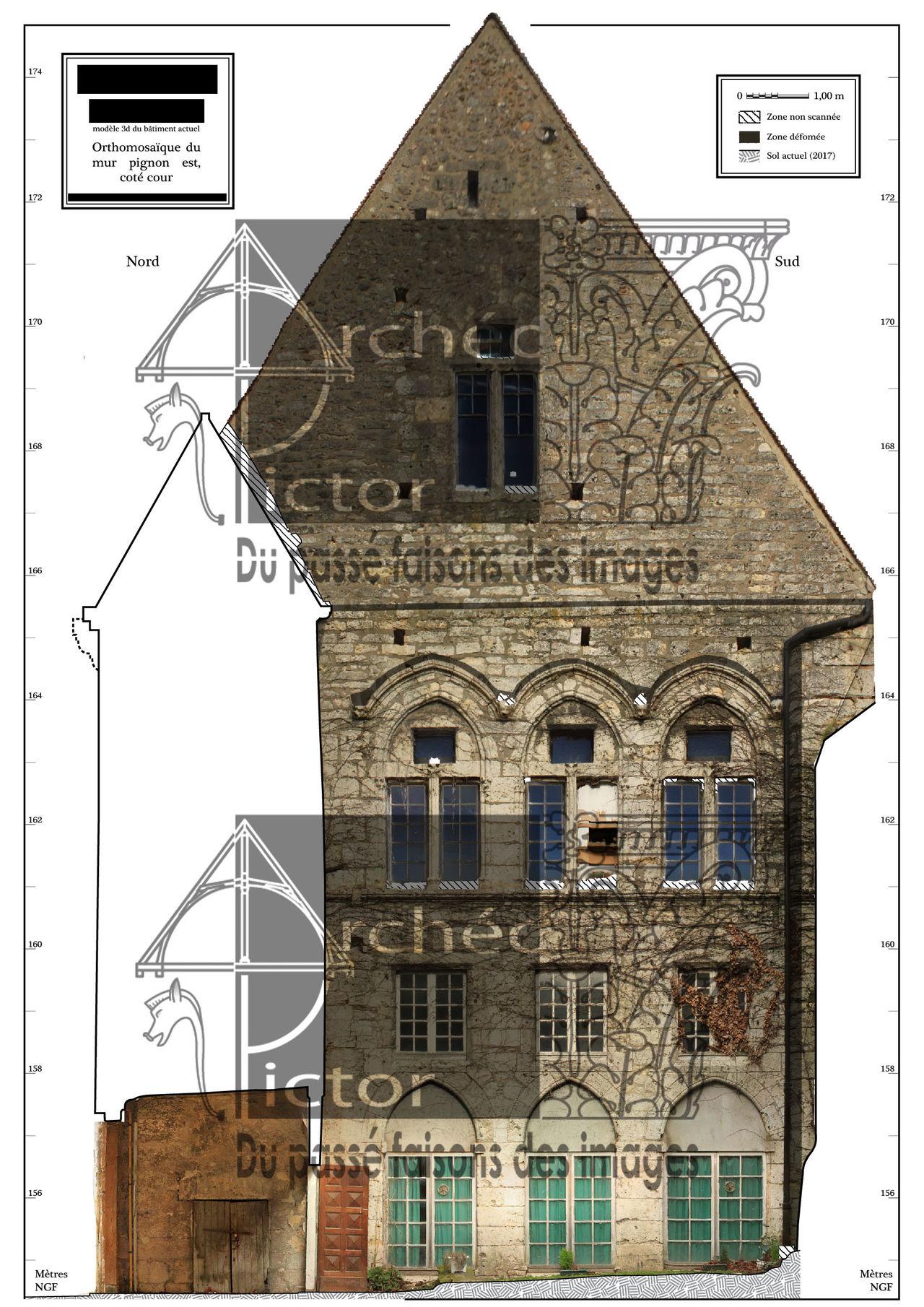 Pignon est d'un monument médiéval