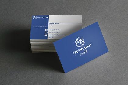 Création de logo et carte de visite CMS Technology