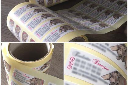 Réalisation d'étiquettes autocollantes
