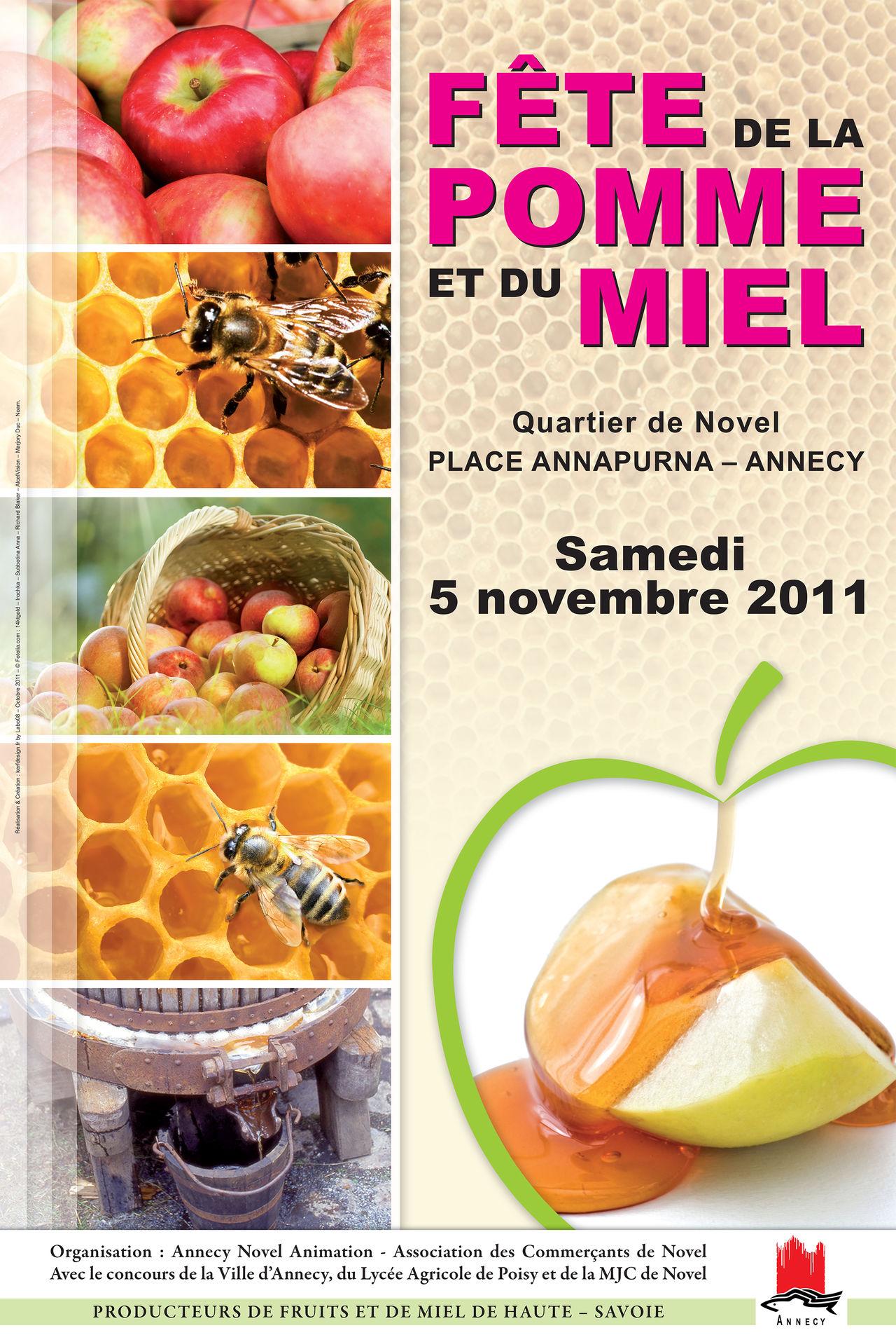 Affiche 2011 Fête de la pomme et du miel