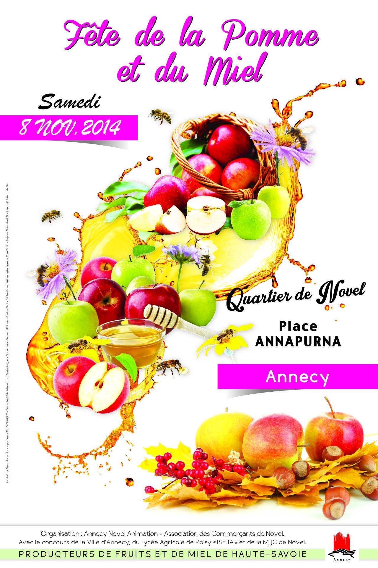 Affiche Fête de la pomme et du miel