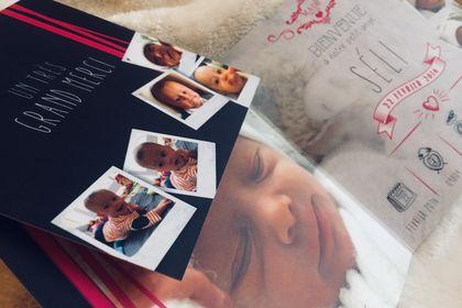Faire-part de naissance et carton de remerciements