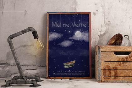 """Affiche, Court-métrage """"Mal de Verre"""""""