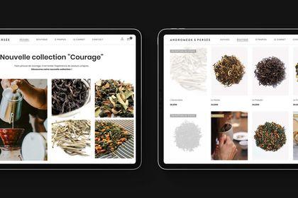 Site e-commerce pour de thé de luxe