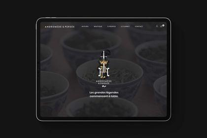 Site e-commerce pour marque de thé de luxe