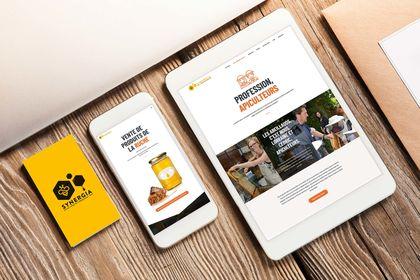 Site web vitrine pour apiculteurs urbain