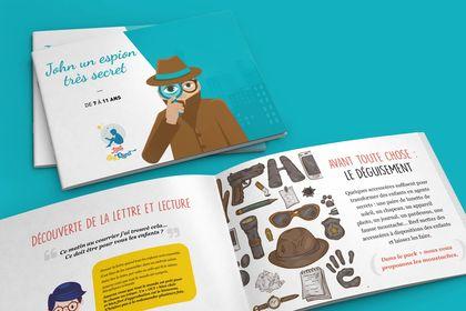 Brochure histoire chasses au trésor enfants