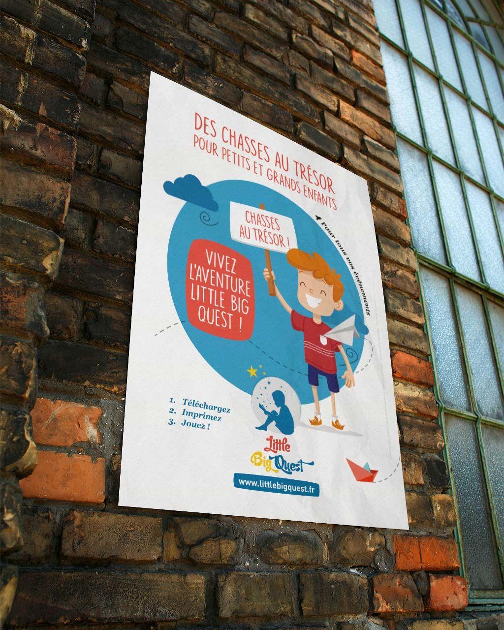 Affiche chasses au trésor pour enfants