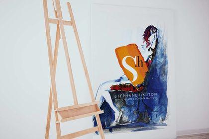 Identité graphique artiste peintre Stéphane Hauton