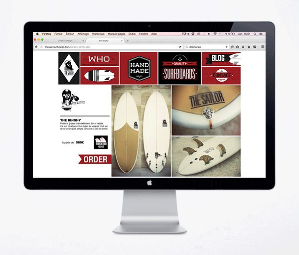 Site Web TheSailor surfboards