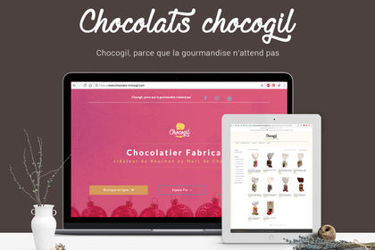 Site e-commerce - Chocolaterie Chocogil