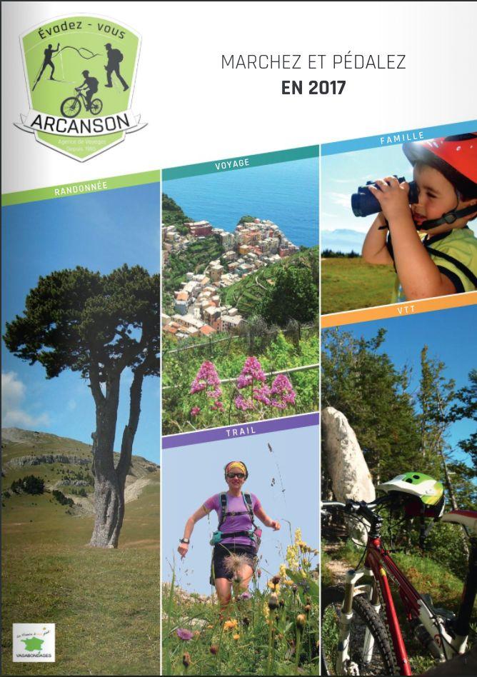 Brochure Arcanson – Pedestre et VTT 2017