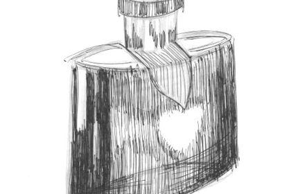 """Design bouteille de parfum """"modèle saint valentin"""""""