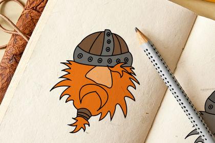 Mascotte Viking