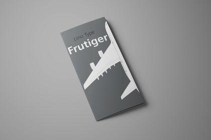 Dépliant Typo Frutiger