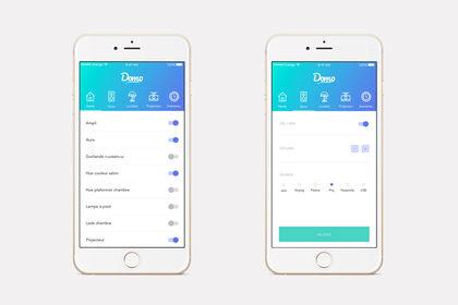 Interface application Domo
