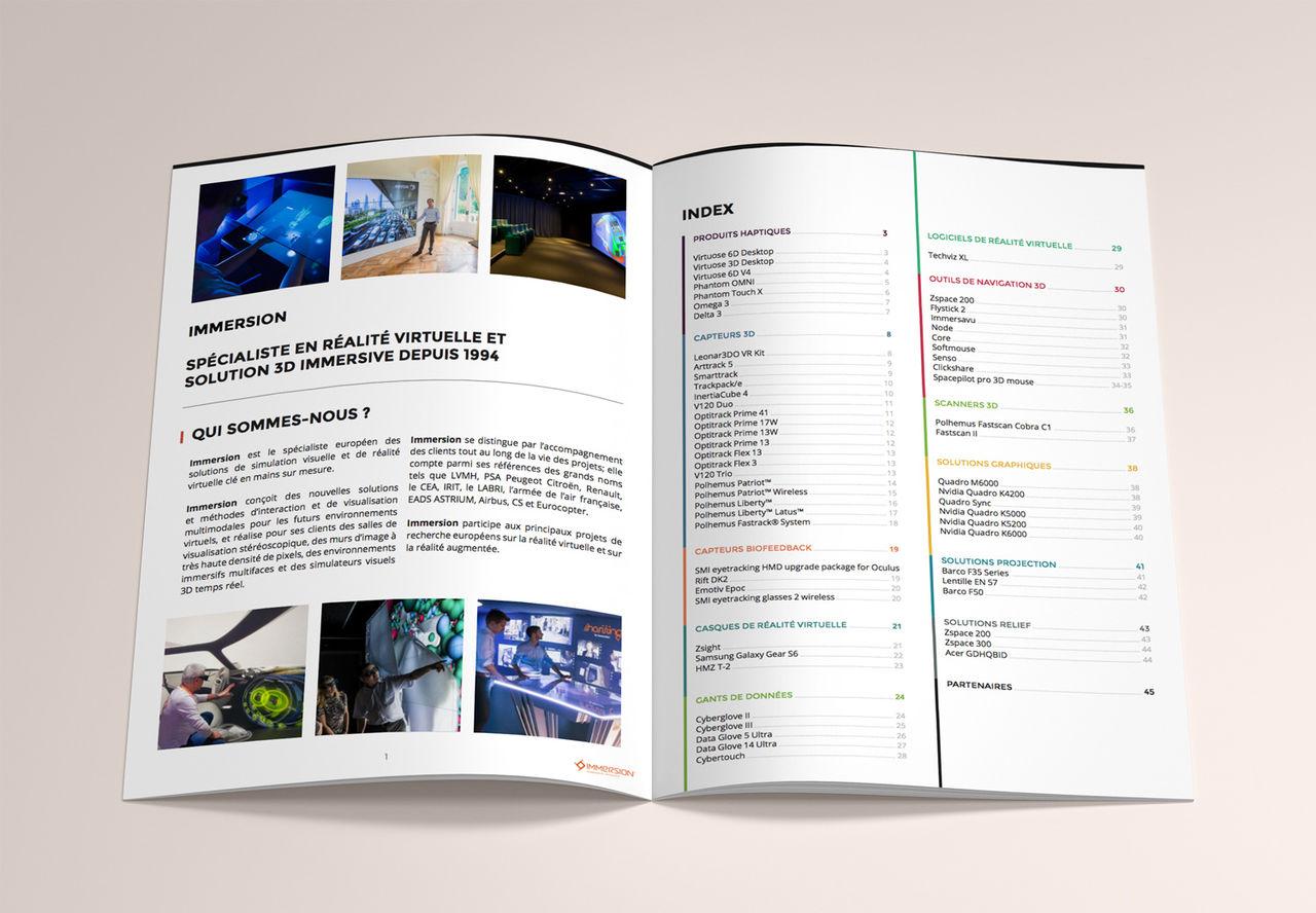 Catalogue produit Immersion