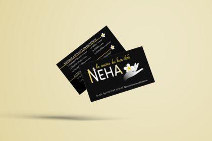 Carte de visite institut de bien-être NEHA