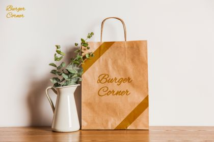 Packaging - sac Burger livraison ou à emporter