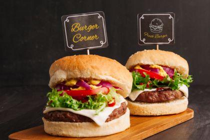 Etiquettes à burger - Fast food Burger Corner