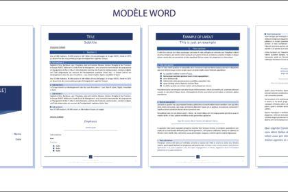 Création de modèle Word