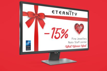 Screen Advertising Shop Sales Valentine's day