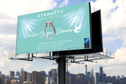 Screen Advertising Jewellery - Shop center