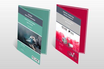 Cover pages modifiables pour rapport - templates