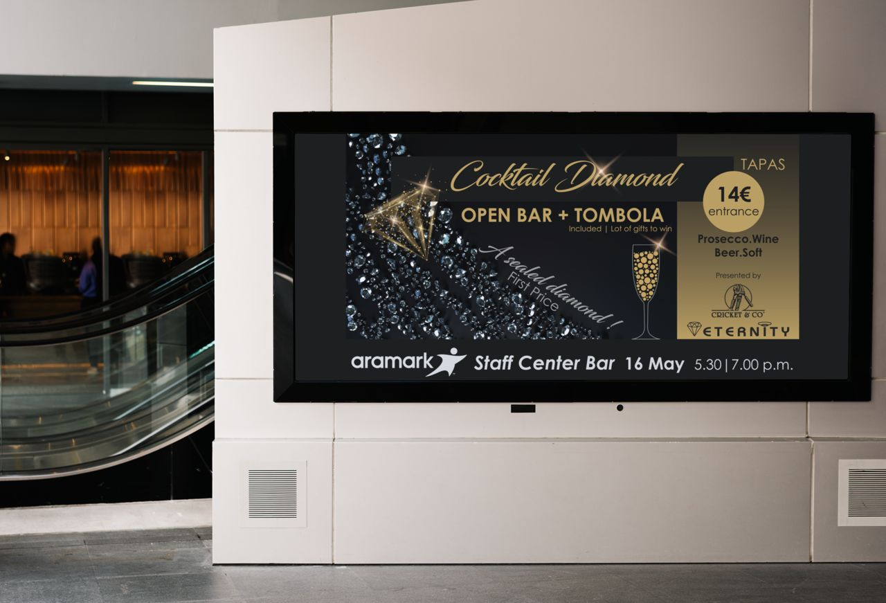 Screen advertising - Cocktail Diamond