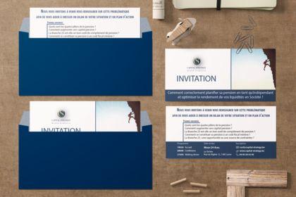 Carton d'invitation Capital Strategy