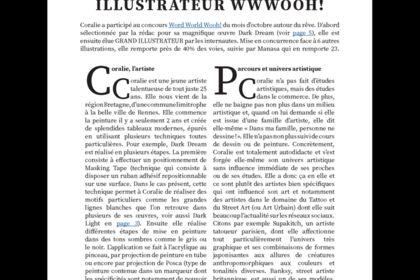Article - mise en page et rédaction du contenu