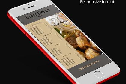 Menu responsive design