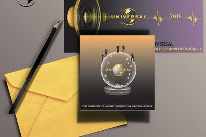 Carte de vœux pour Universal Music - AO