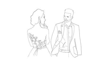 Croquis mariage / Illustration