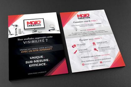 Réalisation de flyers pour MOJO Création