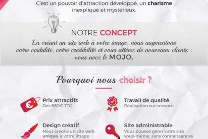 Création flyer pour MOJO Création