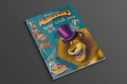Madagascar 3, le livre-jeux