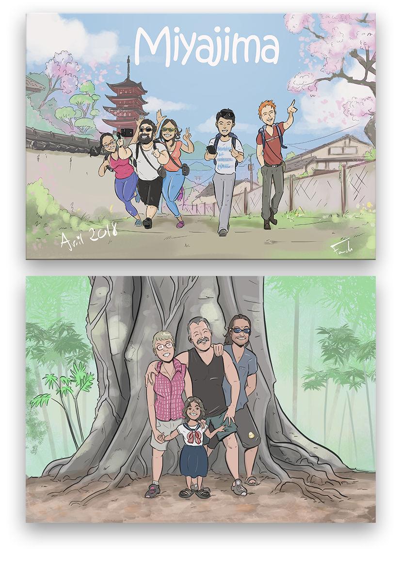 Adaptation BD d'amis/ famille à partir de photos