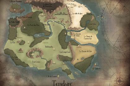 Carte pour un monde d'Heroic Fantasy