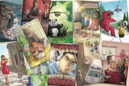 Ensemble d'illustrations pour cartes de jeu
